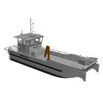 Inboard multi-purpose work boat / aluminum