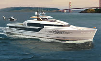 Cruising super-yacht / wheelhouse / displacement hull / with helideck