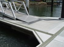 Concrete dock decking