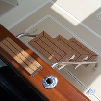 Boat ladder / fixed / stainless steel / manual