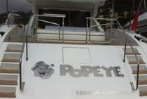 Yacht lettering / for boats / stainless steel / illuminated
