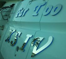 Yacht lettering / for boats / with variable-color lights / illuminated