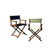 Boat director's chair / folding / teak