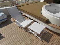 Boat footrest / aluminum