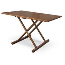 Foldable cockpit table / teak