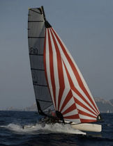 Asymmetric spinnaker / for sport multihulls / Formula 18