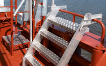 Ship ladder / lateral / boarding / transom-mount