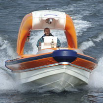Inboard rescue boat / outboard / rigid hull inflatable boat