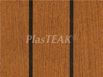 Vinyl floor covering / for boats / imitation wood