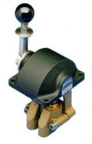 Machine control lever / pneumatic / single-lever / for ships