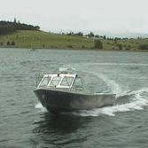 Inboard center console boat / dual-console / sport-fishing / aluminum
