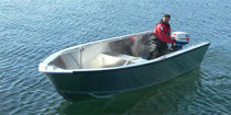 Outboard multi-purpose work boat / aluminum