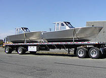 Aluminum commercial coastal fishing boat