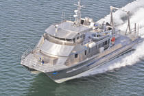 Catamaran oceanographic research ship
