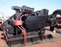 Ship winch / towing / electric drive / single-drum