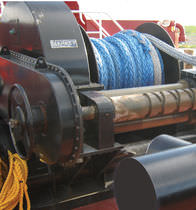 Tugboat winch / towing / electric drive / single-drum