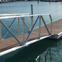 Dock gangways / with handrails / aluminum