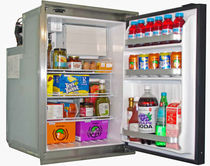 Boat refrigerator / built-in / stainless steel / AC/DC