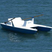 2-person rowing catamaran