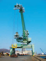 Shipyard crane / luffing jib