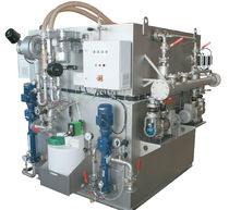 Wastewater treatment system / for ships / membrane / biological