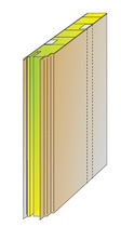 Soundproofing sandwich panel / for ship partition walls / mineral wool / steel