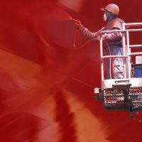 Professional vessel coating / for ships / single-component / fluoropolymer