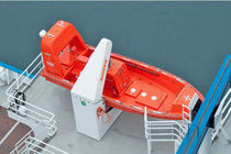 Ship davit / for rescue boat / electric and hydraulic