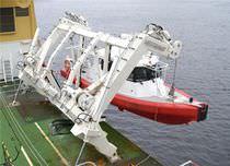 Ship davit / lifeboats / hydraulic