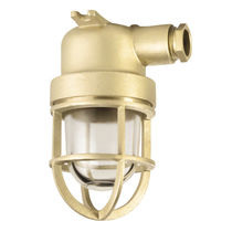Indoor light / for ships / incandescent / brass