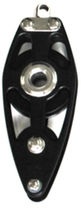 Fiddle block / ball bearing / single / with becket