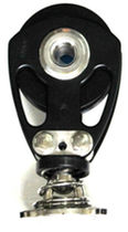 Ball bearing block / single / with hasp/spring / for sailing yachts