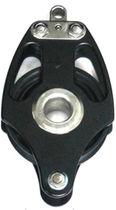 Ball bearing block / single / with becket / max. rope ø 22 mm