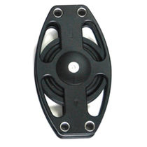 Cheek block / ball bearing / single / max. rope ø 22 mm
