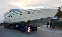Handling trailer / shipyard / all-wheel steering / self-propelled