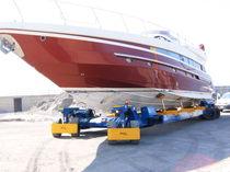Heavy-duty handling trailer / shipyard / all-wheel steering / self-propelled