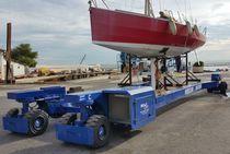 Handling trailer / for boats / self-propelled / all-wheel steering