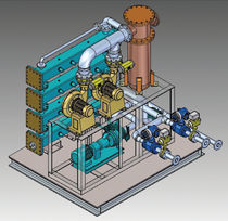 Ballast water treatment system / for ships