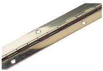 Boat hinge / piano / stainless steel