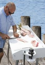 Dock fish cleaning table / fixed / polyethylene