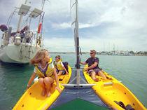 Sit-on-top kayak / rigid / fishing / 2-seater