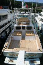 Power boat Bimini top / flybridge / aluminum frame