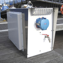 Water supply pedestal / electrical distribution / for docks / for sailing superyachts