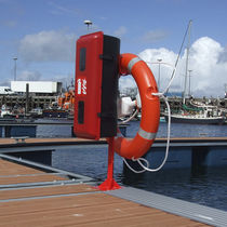 Fire pedestal / with built-in light / for docks