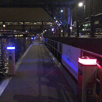 Lighting pedestal / for docks / LED