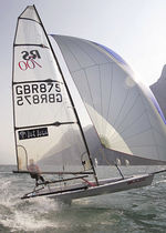 Single-handed sailing dinghy / regatta / skiff / asymmetric spinnaker