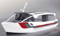 Inboard sightseeing boat / diesel-electric hybrid / aluminum