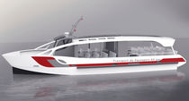 Electric sightseeing boat / inboard / aluminum