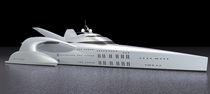 Power trimaran luxury mega-yacht / cruising / wheelhouse