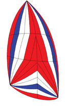 Asymmetric spinnaker sail / for cruising sailboats / tri-radial cut